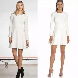Shoshanna Rio Textured Crepe Ivory Shower Dress 8